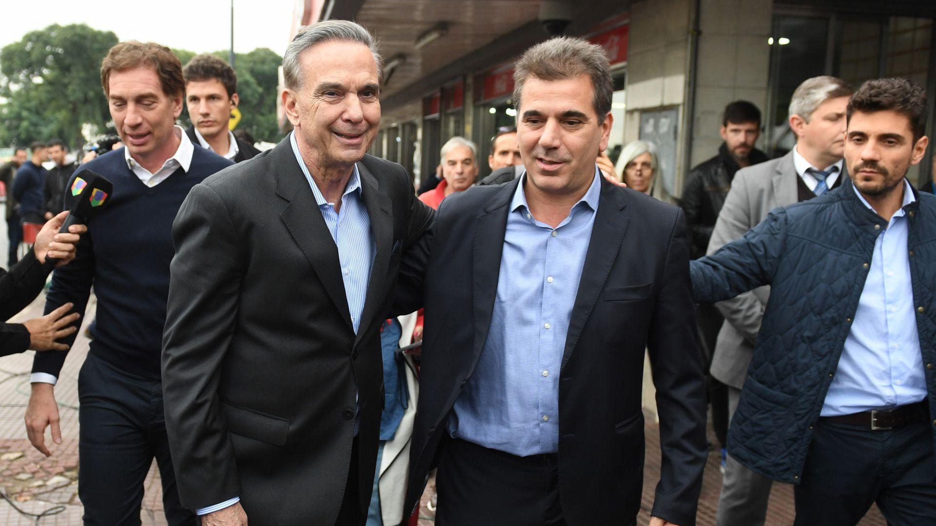 Miguel Angel Pichetto y Cristian Ritondo