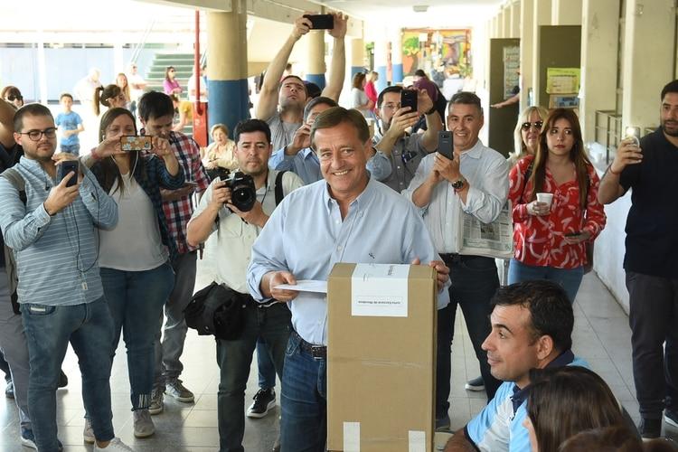 El candidato del oficialismo local y actual intendente de Mendoza, Rodolfo Suárez