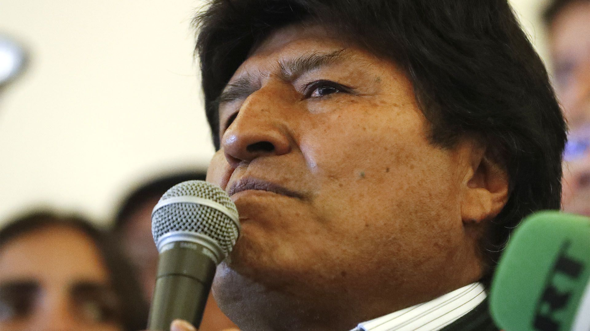 Pese a no contar con el escrutinio final, Evo Morales había adelantado que ganaría en primera vuelta (AP Photo/Jorge Saenz)