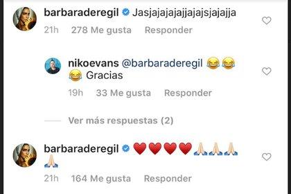 El mensaje de Bárbara de Regil a Niko Evans