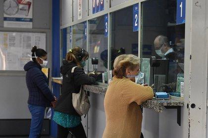 Se registró un cumplimiento masivo del uso de protectores faciales (Maximiliano Luna)