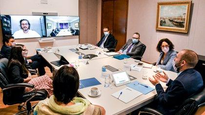 La reunión de gabinete económico analizó el alcance del Repro y del rebote de la actividad. (Foto: Jefatura de Gabinete)