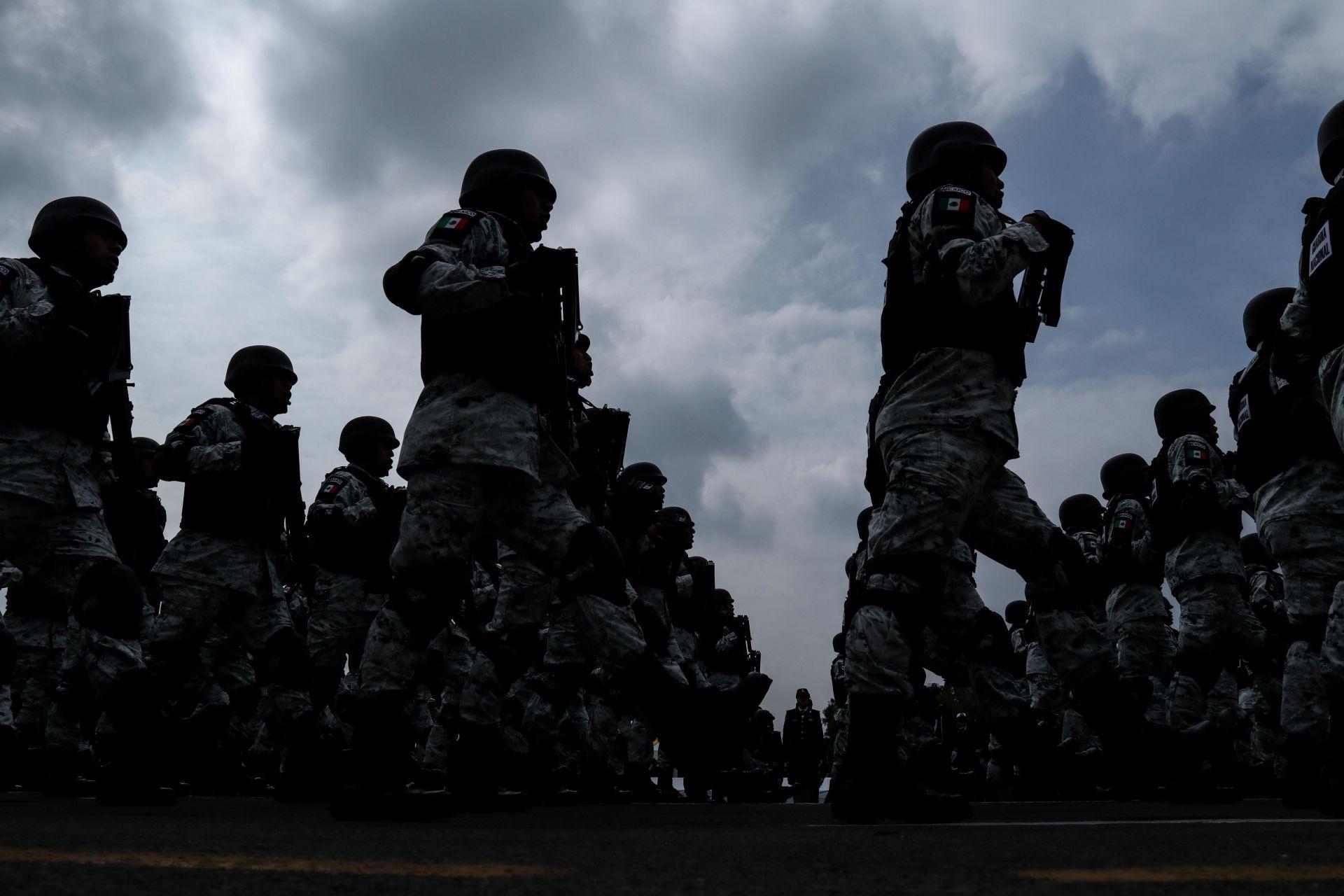 Integrantes del Ejército, Marina y Guardia Nacional realizaron el pase de Revista General con motivo de cara al desfile conmemorativo del inicio de la Independencia mexicana (Foto: Cuartoscuro)