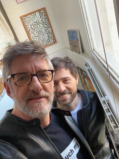 Luis Novaresio y su novio Braulio Bauab