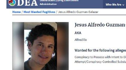 """El """"Alfredillo"""" se encuentra prófugo de la justicia estadounidense (Foto: DEA)"""