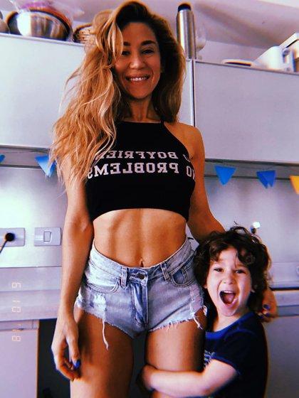 Morrison tiene cuatro años y es el hijo de la actriz y Daniel Osvaldo (Instagram)