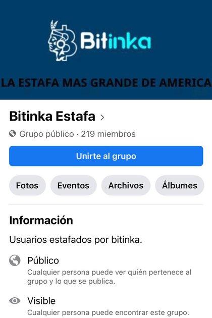 """Pablo armó un grupo de Facebook llamado """"Bitinka Estafa"""" que nuclea a más de 200 damnificados de América Latina, de los cuales la mitad son argentinos"""