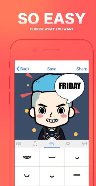 FaceQ, una app para crear tu ávatar personalizado.