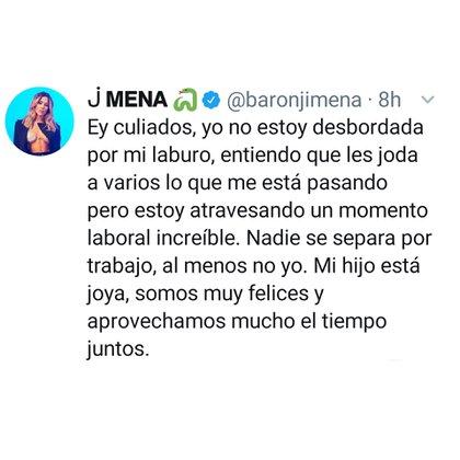 El mensaje de Jimena Barón para los haters (Foto: Twitter)