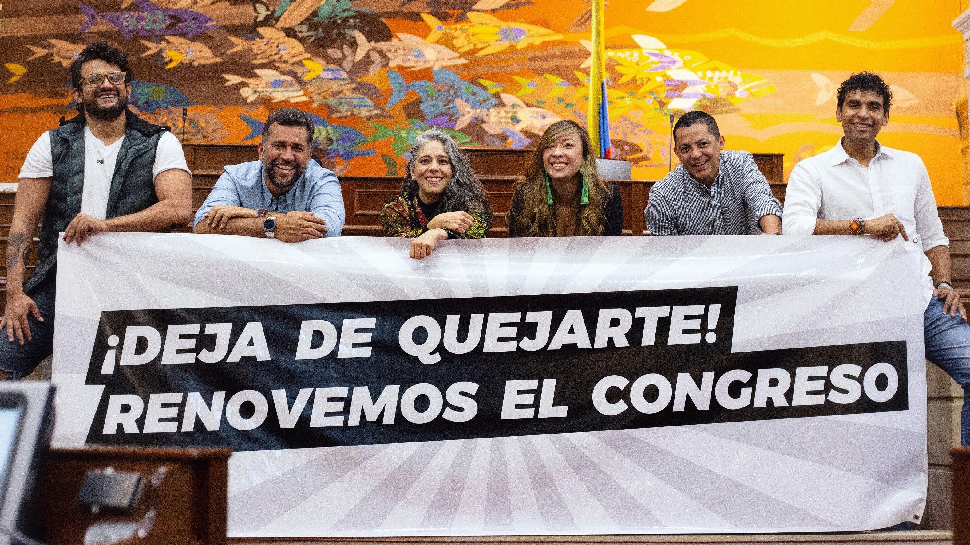 Congresistas de oposición Inti Asprilla, León Fredy Muñoz, María José Pizarro, Katherine Miranda y David Racero. Foto: Twitter.