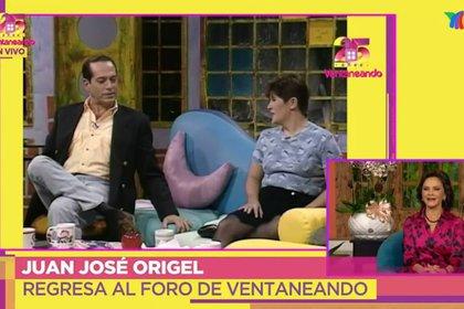 Pepillo Origel y Martha Figueroa en los inicios de Ventaneando (Captura de pantalla)