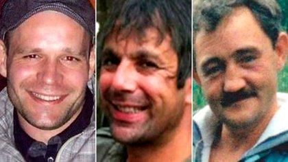 Lukasz Slaboszewski (31), Kevin Lee (48) y John Chapman (56), sus tres víctimas. También apuñaló a otros dos hombres que salvaron su vida (Cambridgeshire Police)