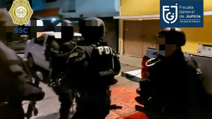 Operativo anti Union Tepito (Foto: Fiscalía General de Justicia de la Ciudad de México)