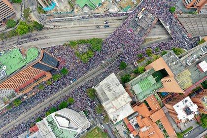Las protestas en Caracas