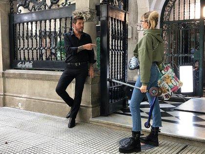 En escena: Marcelo Tinelli y Guillermina Valdés (Fotos: Teleshow)