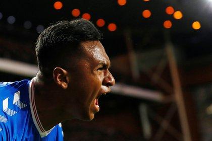 Alfredo Morelos en tanda goleadora en el fútbol escocés Action Images via Reuters/Jason Cairnduff