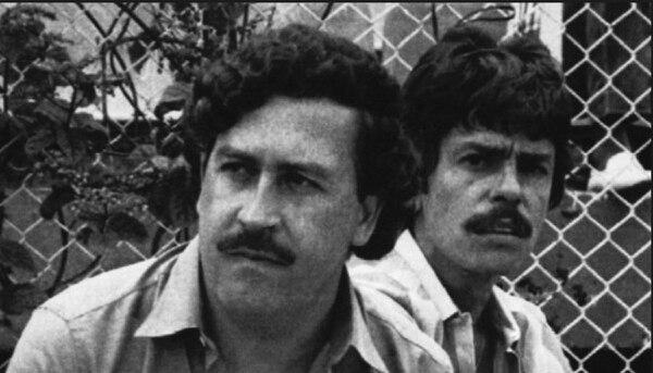 Jorge Roca Suárez con Pablo Escobar en los años 80