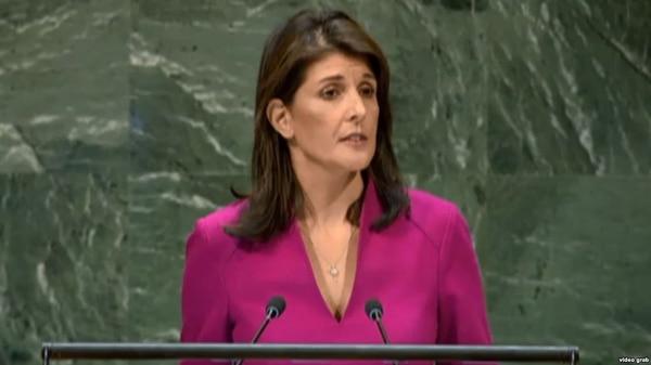 La embajadora de EE.UU. en la ONU, Nikki Haley (Foto: Martí Noticias)
