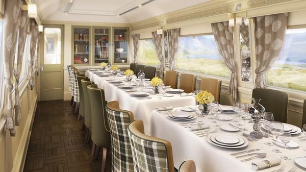 El Belmond Grand Hibernian es el más nuevo de los tours en trenes por Europa y uno de los más lujosos