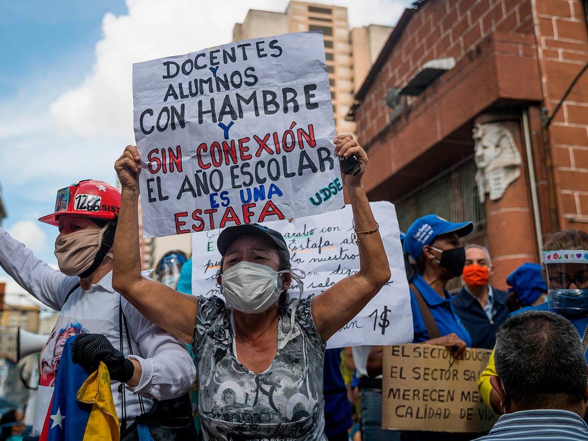 Nuevas protestas contra la dictadura de Maduro: docentes venezolanos  exigieron mejores condiciones de trabajo y salarios dignos - Infobae