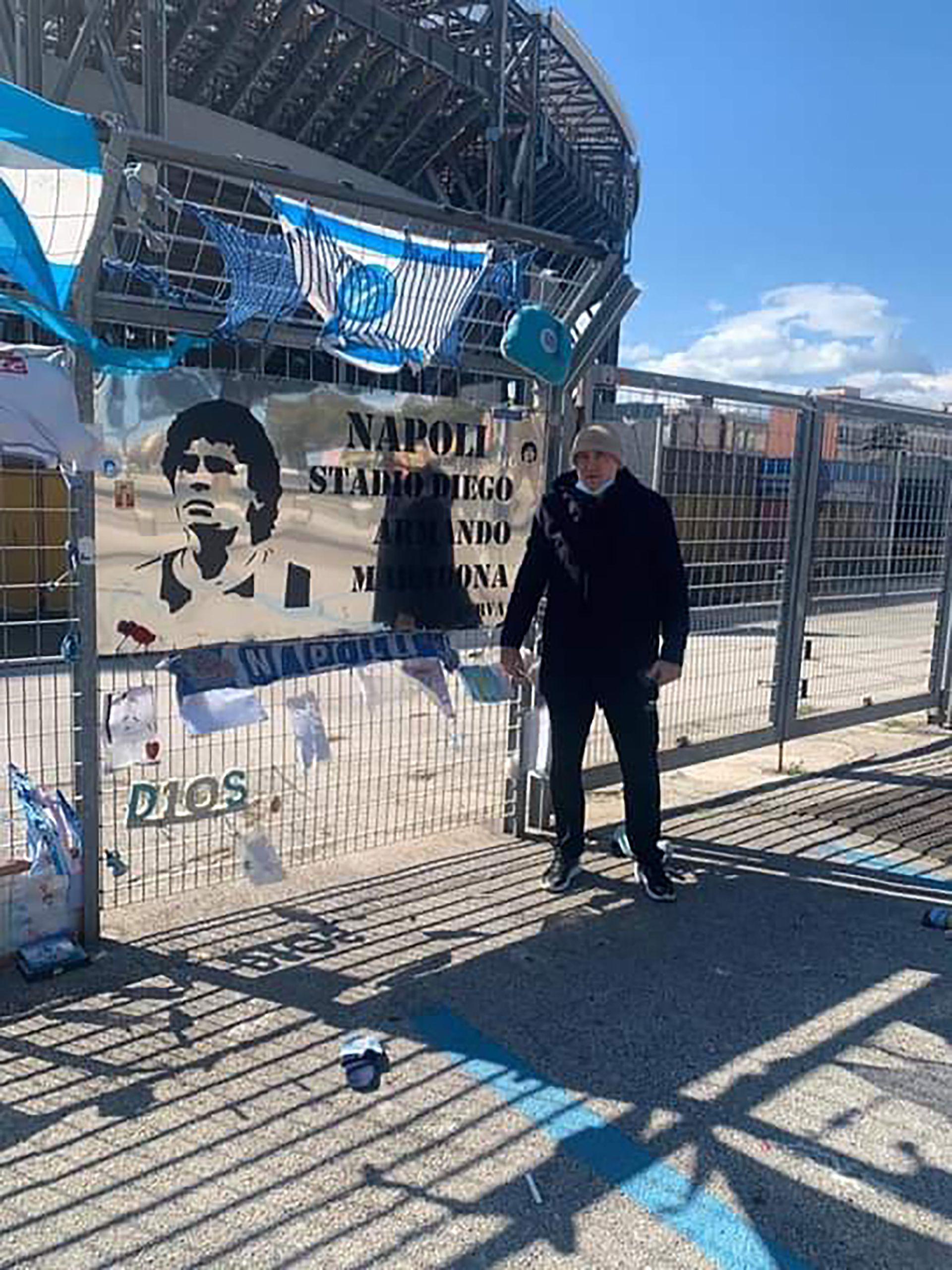Alessandro Renica, ex compañero de Maradona en el Napoli