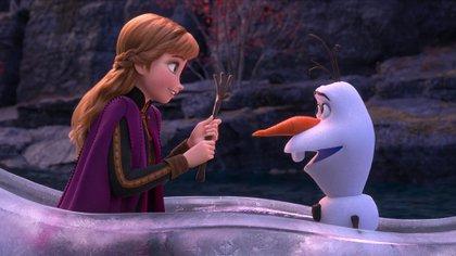 """Los personajes de Anna y Olaf, de """"Frozen 2"""" (Disney)"""