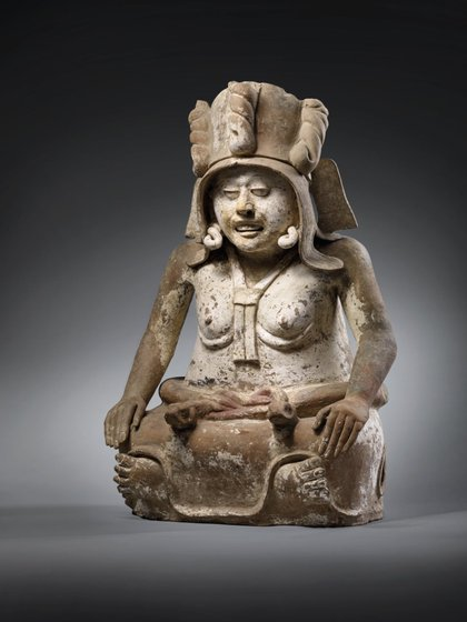 """Escultura de Cihuateótl, """"Diosa de la Fertilidad"""" (Foto: Twitter/DanielSalinas00)"""