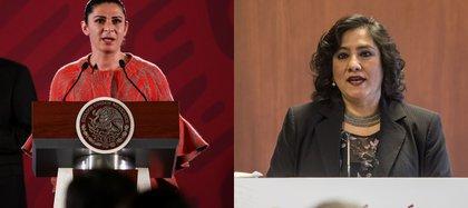 Ana Gabriela Guevara, titular de la Conade e Irma Eréndira Sandoval, secretaria de la Función Pública (Foto: Cuartoscuro)