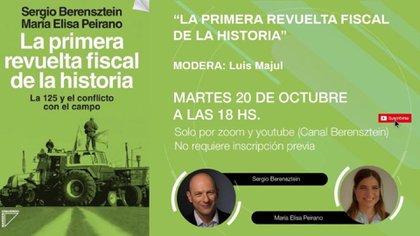 La presentación del libro se realizó ayer, y el evento virtual contó con la participación del periodista Luis Majul