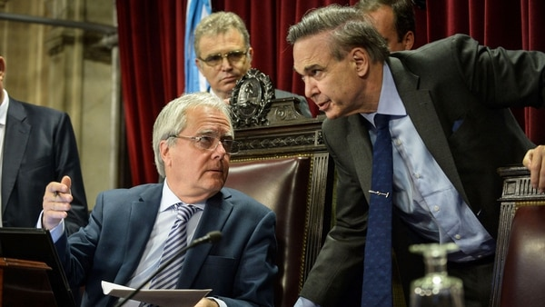 Federico Pinedo y Miguel Ángel Pichetto, los hombres fuertes del Senado (NA)