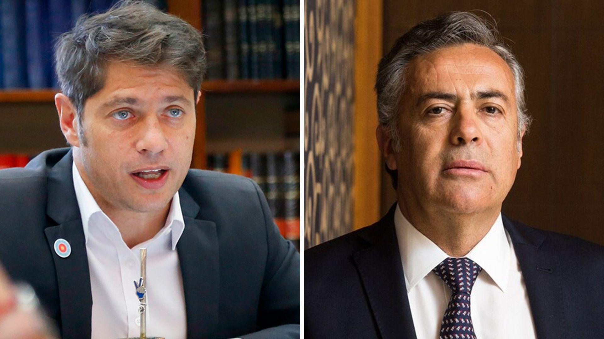 Kicillof y Cornejo