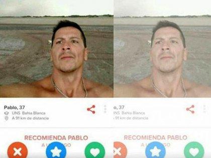 El perfil de Cuchán que apareció en Tinder