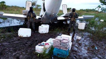 Avioneta cocaína incautada en Honduras proveniente de Venezuela(@ElEspectadorHn)