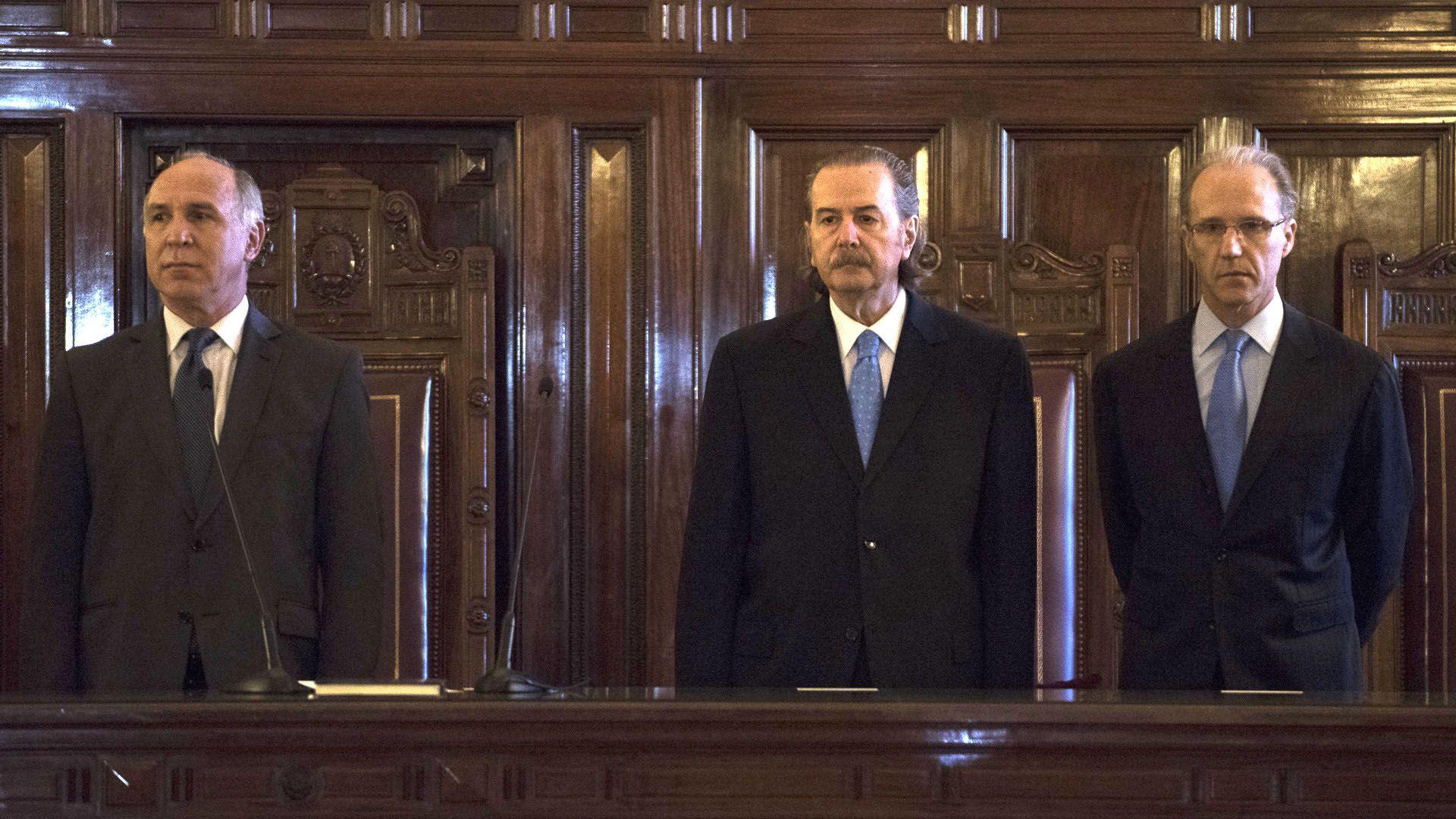 Ricardo Lorenzetti, Juan Carlos Maqueda y Carlos Rosenkrantz, tres miembros de la Corte Suprema