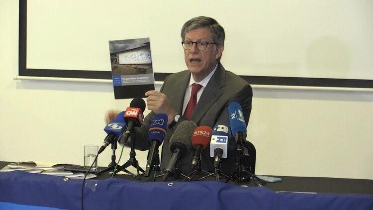 José Miguel Vivanco, director de la ONG Human Rights Watch (HRW), al presentar un documento sobre el