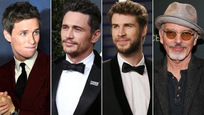 Eddie Redmayne, James Franco, Liam Hemsworth y Billy-Bob Thornton   (Reuters-Grosby)
