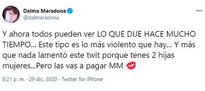 Dalma Maradona sumó un nuevo round en su batalla contra Matías Morla