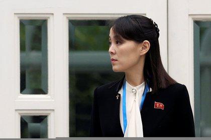 Kim Yo-jong, hermana del dictador de Corea del Norte, Kim Jong-un en el hotel Metropole durante la segunda cumbre entre Corea del Norte y Estados Unidos. en Hanoi, Vietnam el 28 de febrero de 2019 (Reuters)