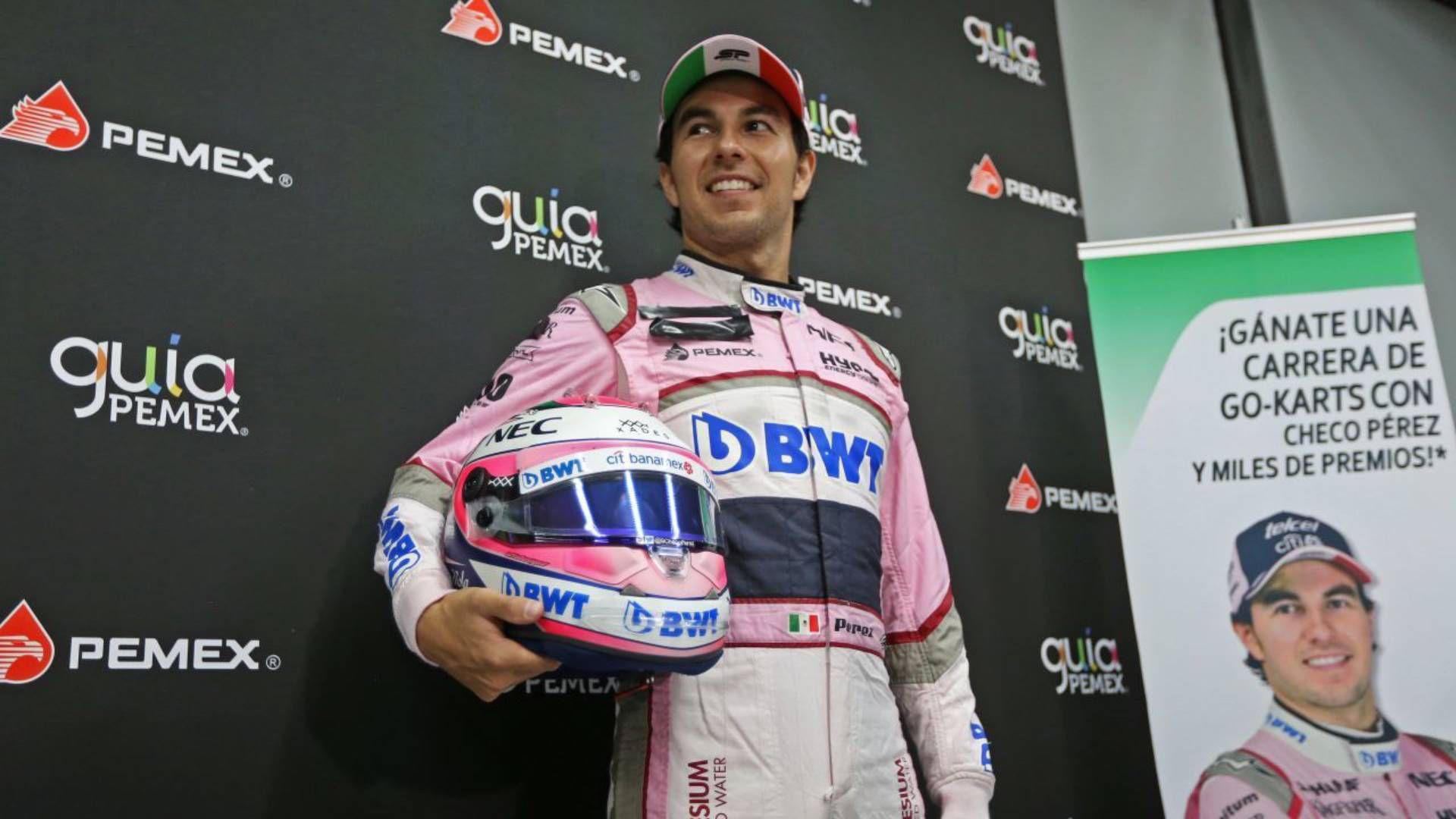 Checo Pérez es una de las nueve estrellas de la Fórmula 1 que aparecerán en la portada de un videojuego (Foto: Cuartoscuro)
