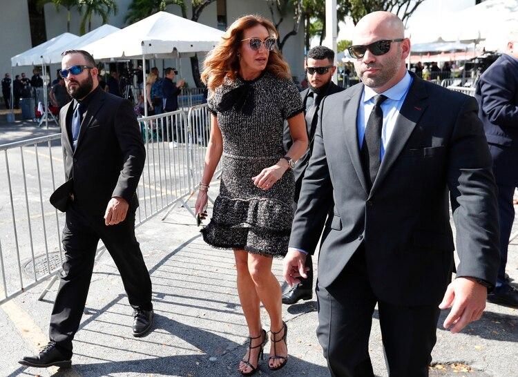 Lili Stefan a su llegada al funeral ( Foto: Wilfredo Lee/AP)