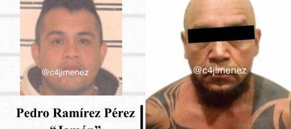 """(Imagen de izquierda a derecha) El """"Jamón"""" y el """"Tortas"""", líderes de la Anti Unión Tepito"""