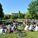 People enjoy warm weather at the Tantolunden park as the spread of the coronavirus disease (COVID-19) continues, in Stockholm, Sweden May 30, 2020. TT News Agency/Henrik Montgomery via REUTERS ATTENTION EDITORS - THIS IMAGE WAS PROVIDED BY A THIRD PARTY. SWEDEN OUT. NO COMMERCIAL OR EDITORIAL SALES IN SWEDEN.