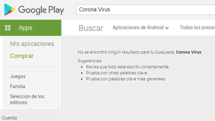 Las apps sobre Coronavirus, suspendidas en la PlayStore