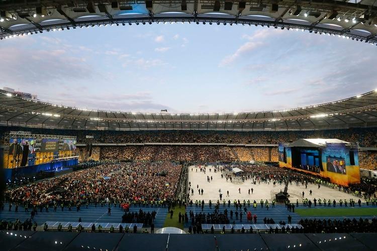 Debate presidencial en Ucrania (AP Photo/Efrem Lukatsky)