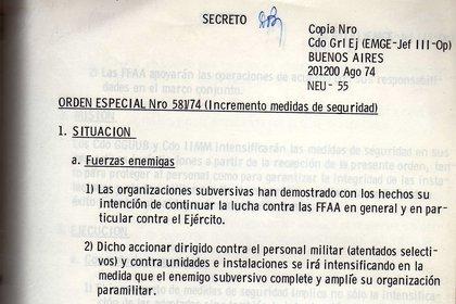 Medidas de seguridad del Ejército antes del Operativo Independencia