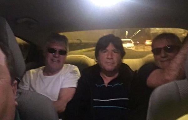 Manuel, con Julián Camino y Claudio Gugnali, ex ayudantes de Alejandro Sabella