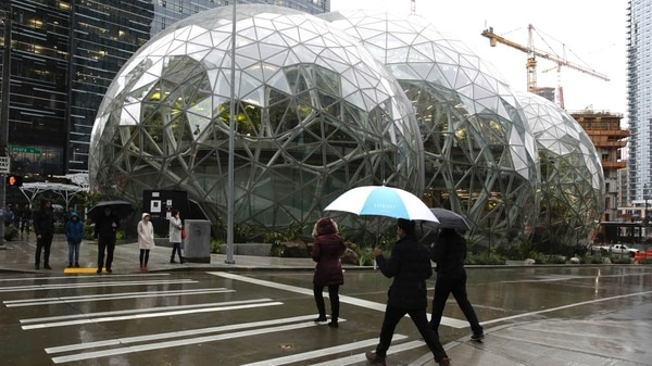 "Amazon inauguró ""La Esfera"". AFP"