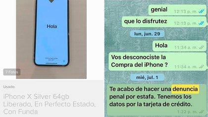 Un hombre fue estafado por el comprador de un iPhone a través de Mercado Libre