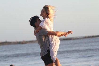 Cande y Nico disfrutaron de las playas de José Ignacio