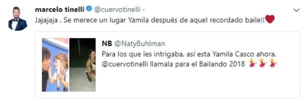 """La convocatoria de Marcelo Tinelli para Yamila Casco al """"Bailando 2018"""""""